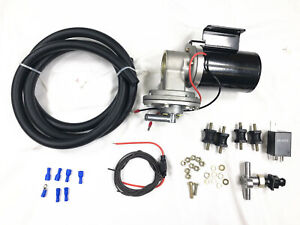 Universal 12v Electric Vacuum Pump Kit hardware Gm Ford Chevy For Brake Booster