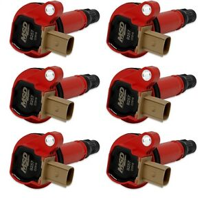 Msd Ignition 82576 Ecoboost Coil In Red Fits 2011 2016 Ford F150 Pack Of 6