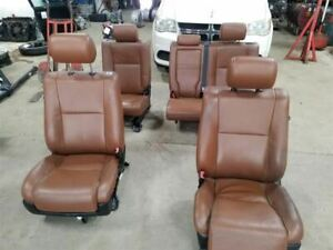 Driver Passenger Front Rear Seats Brown Leather Electric Fits 10 13 Tundra