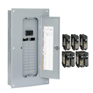 Square D Main Breaker Box Kit 100 Amp 24 space 48 circuit Indoor Value pack