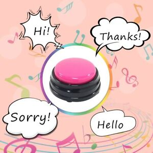 Recordable Talking Button Child Pets Interactive Toy Phonograph Answer Buzzers