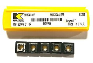 Kennametal Carbide Insert Snmg433rp Grade Kcm15 Turning Indexable Inserts 5 Pack