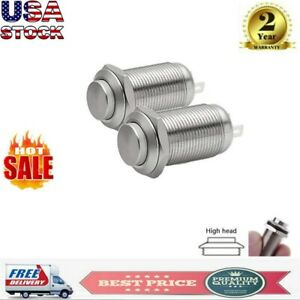 12mm Stainless Steel Round Latching Push Button Switch Spst 1no On off 2 Pin Us