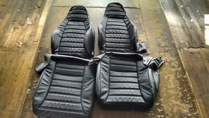 1977 1984 Porsche 911 Black Leather Replacement Covers