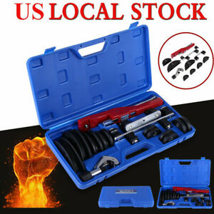 Tube Bender Hvac Refrigeration Ratchet Tubing Pipe Cutter Copper Aluminum Set