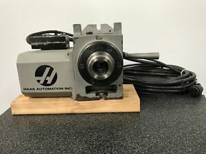 Haas Ha5c Rotary Table 2009 Brushless Motor Hand Lever Collet Closer Cables