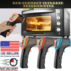 Industrial Ir Thermometer Non contact Lcd Digital Laser Infrared Temperature Gun