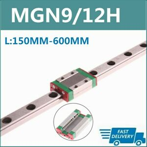 Mgn9h Mgn12h 150mm 600mm Linear Sliding Guide Rail W Block Cnc 3d Printer Us