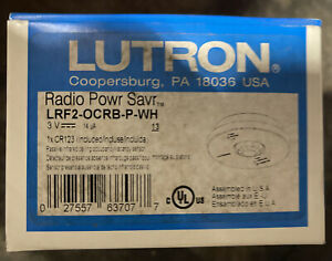 Lutron Lrf2 ocrb p wh Radio Powr Savr Wireless Ceiling mounted Occupancy vacancy