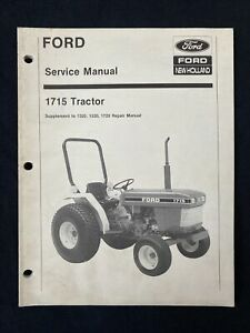 New Holland Service Manual 1715 Tractor Supplement 1832