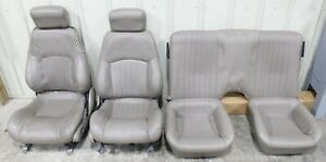 1998 2002 Pontiac Trans Am Ws6 Tan Leather Seat Set Front Rear Used Gm Cores