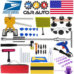Us Paintless Dent Removal Puller Kits Dent Line Board Repair Hammer Lifter Tools