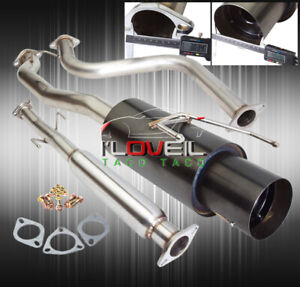 N1 Catback Exhaust 3 Piping 4 5 Muffler Tip For 1990 1993 Honda Accord Cb7 Cb3