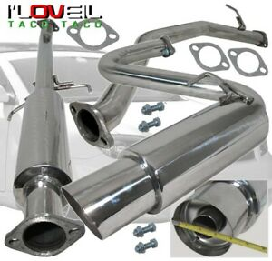 T304 Stainless Steel Catback Exhaust 60mm 4 Muffler Tip For 2004 2008 Scion Tc