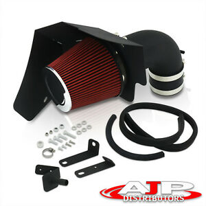 Black Wrinkle Finish Air Intake Piping Heat Shield For 2009 2015 Cts V V8 6 2l