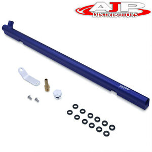 Top Feed Injector Fuel Injection Railing Blue For Nissan Skyline Rb30de Engine