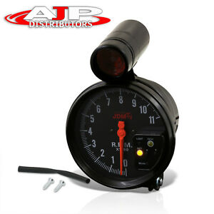 5 Black Face Tachometer 11k Rpm Tach Gauge With Red Shift Light For Ford Chevy