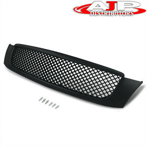 Black Luxury Sport Mesh Front Bumper Grill Grille For 2000 2005 Cadillac Deville
