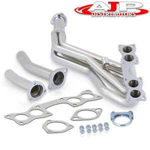 Stainless Exhaust Tri Y Headers Kit For 1990 1995 Nissan D21 Pickup 2 4 Ka24e L4