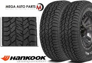 2 Hankook Dynapro At2 Rf11 Owl Lt275 70r17 121 118s 10p All Terrain Truck Tires