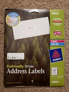 Avery 5160 48860 Address Labels 1 X 2 5 8 420 Total 14 Sheet White