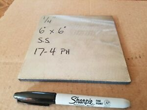 17 4 Ph Stainless Steel 1 4 X 6 X 6 Bar Plate