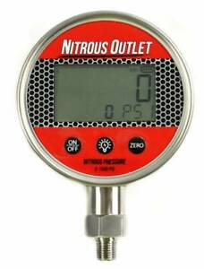 Nitrous Outlet Digital Nitrous Pressure Gauge 0 1500psi 1 4 Npt Thread