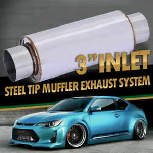 Vibrant 1142 2 5 Inch Ultra Quiet Resonator Exhaust System Car Muffler Us Stock