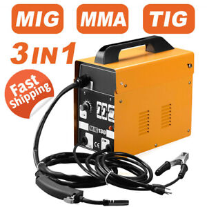 3 In1 130 Mig Welder Wire Gasless Inverter Lift Tig Arc Welding Machine