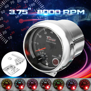 12v Car Truck Auto 3 75 Tachometer Tacho Gauge With Shift Light 0 8000 Rpm Usa