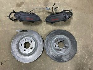 Front Calipers Rotors Gt Brembo Manufactured Fits 11 14 Mustang 735550