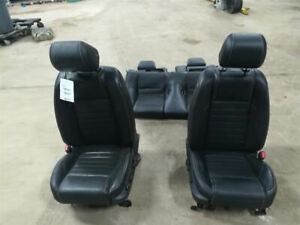 Front Rear Seat Set Black Leather Trim Code 4w Leather Fits 13 14 Mustang