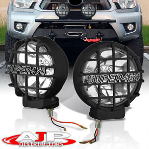 Pair 2x Universal 6 Inch Built in 6000k Hid 4x4 Off Road Fog Head Lights Lamps