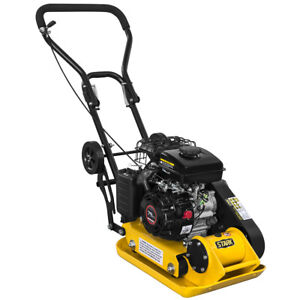 3hp Plate Compactor Walk Behind Soil Vibratory Rammer Foldable Handle And Wheel