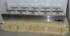 Us Commercial 10 pan Bain marie Buffet Steam Table Sneeze Guard Food Warmer