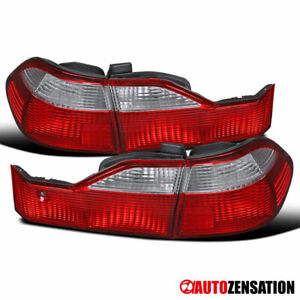 For 1998 2000 Honda Accord Sedan Red Clear Tail Lights Lamps Left Right 1999