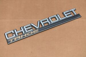 1995 1996 1997 1998 1999 2000 Chevrolet Tahoe Rear Barn Door Tail Gate Emblem