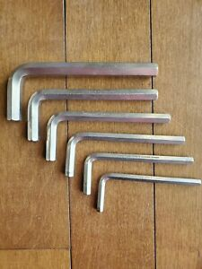 Hazet 6 Piece Set Metric Allen Wrenches 2100 Germany