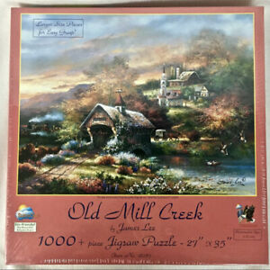 Old Mill Creek by James Lee 1000 pc Jigsaw Puzzle SunsOut # 18087 New amp; Sealed $31.99