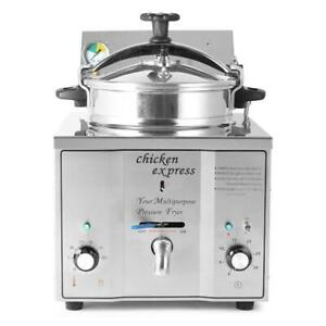 Commercial Electric 16l Pressure Deep Fryer Food Chips Potato Chicken Oven