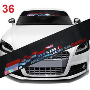 Windshield Black Nismo Vinyl Banner Front Window Decal Sticker Universal Fitment