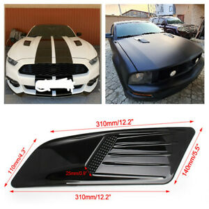 Abs Air Intake Trim Hood Vent Scoop Cover Glossy W Adhesive Fit For Car Racing