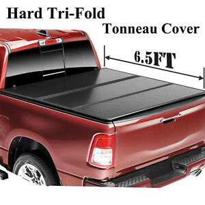 For 2009 2018 Dodge Ram 1500 6 5ft 78 Truck Bed Hard Tri Fold Tonneau Cover