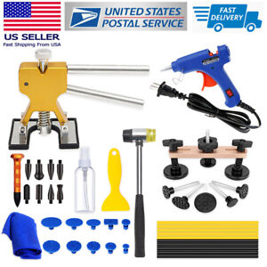 Paintless Dent Repair Remover Kits Car Body Hail Damage Golden Puller Auto Tools