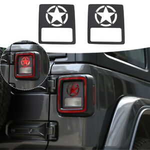 Tail Light Lamp Decor Cover Guards For Jeep Wrangler Jl 2018 Accessories Black