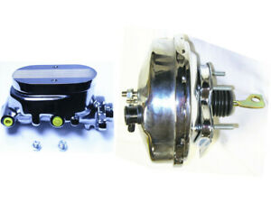 1967 70 Ford Mustang 9 Power Brake Booster Black W Master Cylinder Chrome