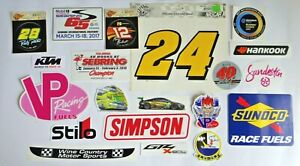Lot Of Auto Racing Auto Parts Stickers For Tool Box garage car locker