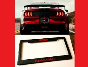 Ford Mustang Racing Coyote Gt 100 Carbon Fiber License Plate Frame premium