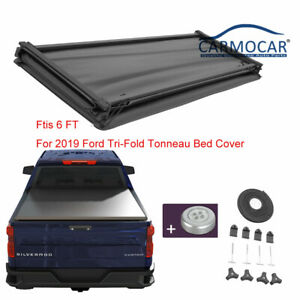 Tri Fold 6 Ft Tonneau Bed Cover Fits For 2019 2021 Ford Ranger