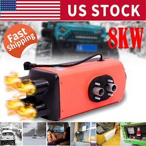 12v 8kw Diesel Air Heater All In One Lcd Monitor For Cars Trucks Boats Bus Rvs
